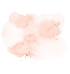 Abstract orange peach stain splashing vector
