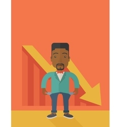 African businessman failed vector image