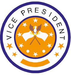 American vice president icon vector