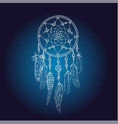 Art of traditional indian dream catcher vector