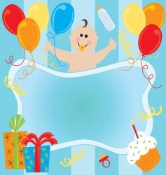 baboy birthday invitation vector image