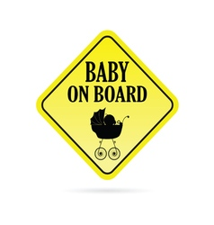baby on board warning vector image