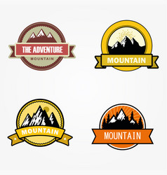 badges mountains vector image