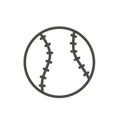 Baseball ball icon line baseball symbol vector