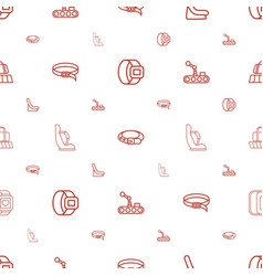 Belt icons pattern seamless white background vector