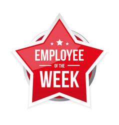 best employee week award badge vector image