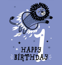 birthday card for 1 year old baby vector image
