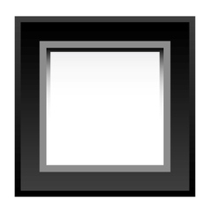 black photo frame vector image