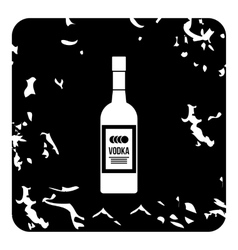 Bottle of vodka icon grunge style vector image