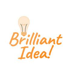 Brilliant idea logo and icon startup label for vector