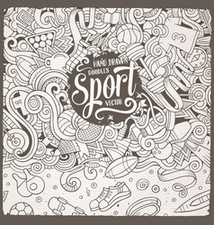 Cartoon cute doodles sport frame vector