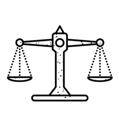 cartoon image of balance icon scales symbol vector image