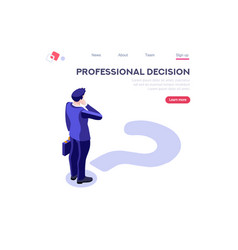 Choose professional decision symbol vector
