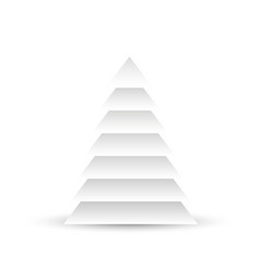 christmas tree of white layered triangles on white vector image