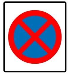 Clearway sign vector