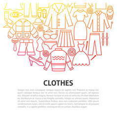 clothes line concept vector image