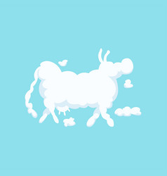 Clouds shaped as cow silhouette vector