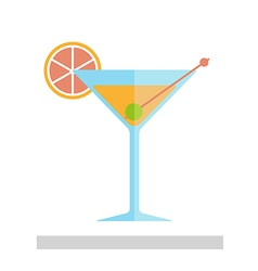 Cocktail in a glass isolated vector