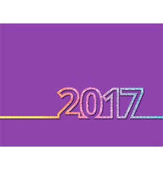 colorful new year inscription 2017 vector image