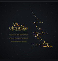 creative christmas tree design made with stars in vector image
