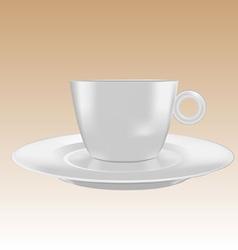 Cup small mockup vector