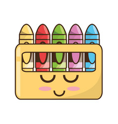 cute crayons cartoon vector image