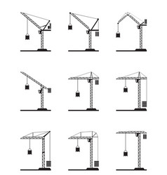 different tower cranes vector image
