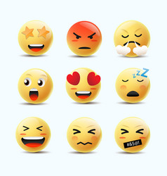 Emoji icon design with smile angry happy vector