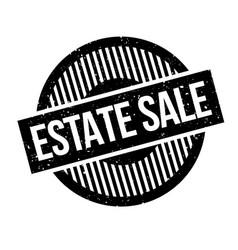 estate sale rubber stamp vector image