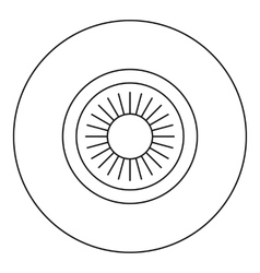 Eye icon outline style vector
