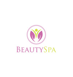 flower beauty spa logo vector image
