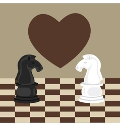 Forbidden taboo no romance two horse chess fall in vector
