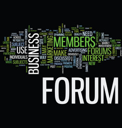 Forums a consumer centric approach text vector