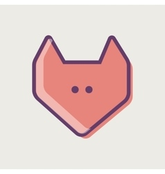 Fox face vector image