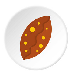 Fresh baked pastry icon circle vector
