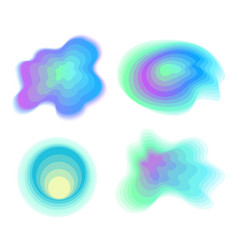 futuristic abstract watercolor stains set vector image