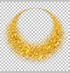 gold circle light glitter effect golden ring vector image