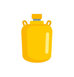 Gold water flask icon flat style vector