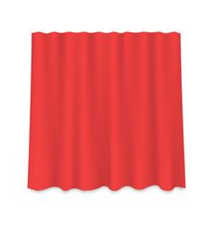 hanging silk curtain vector image