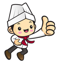 head chef character took a best gesture isolated vector image