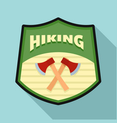 Hiking logo flat style vector