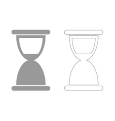 Hourglass the grey set icon vector