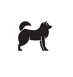 husky black concept icon husky fl vector image