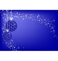 Image christmas blue balls vector