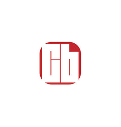 initial letter cb logo template design vector image