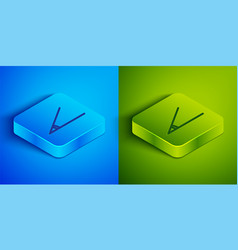 Isometric line acute angle 45 degrees icon vector