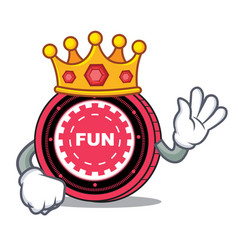 King funfair coin mascot cartoon vector
