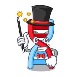 Magician dna molecule mascot cartoon vector