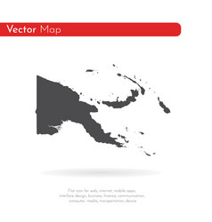 map papua new guinea isolated vector image