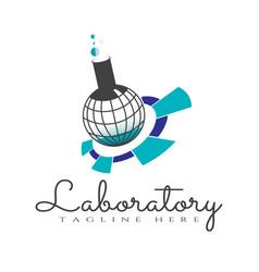 Medical laboratory logo design vector